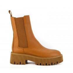 plataform mid boot piel