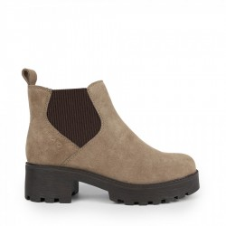 Chika10 Leather Botin elast. Taupe/Taupe LEONOR 09